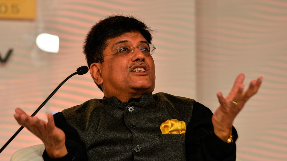 India's Energy, Coal and Mines Minister, Piyush Goyal, says India has become one of the major player in renewable energy. (File photo: AFP)