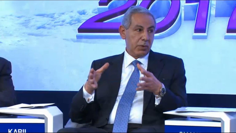 Egypt's Minister of Trade and Industry Tarek Kabil. (WEF/Al Arabiya)
