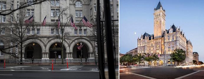 الفندق قريب في جادة بنسلفانيا من حيث يقع البيت الأبيض
