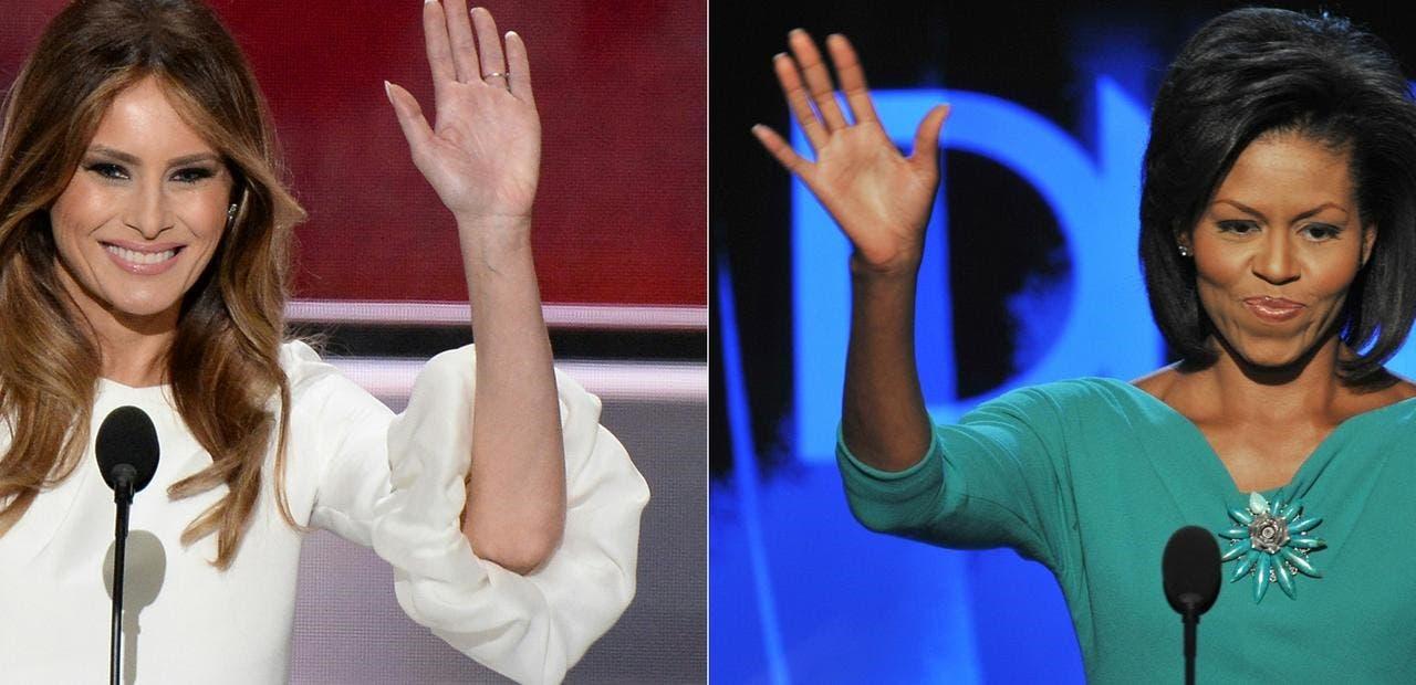 ميشيل أوباما وميلانيا ترمب