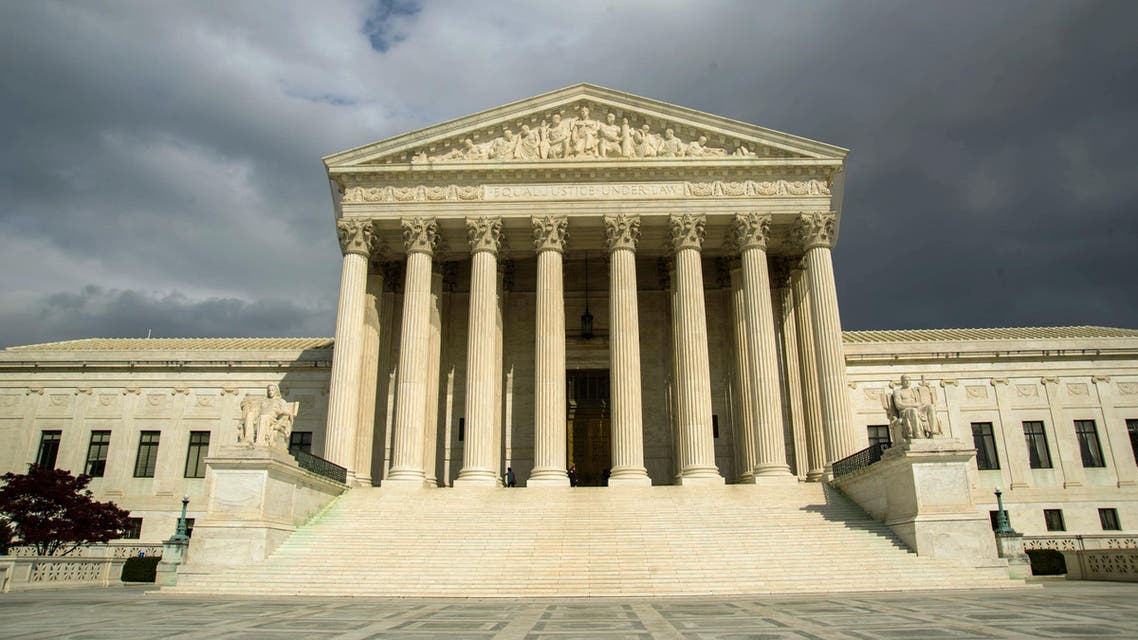 The US high court reviewed whether the men, who say they were held after the al-Qaeda attack based solely on their identity as Arab Muslims, had the right to sue top US officials. (AFP)