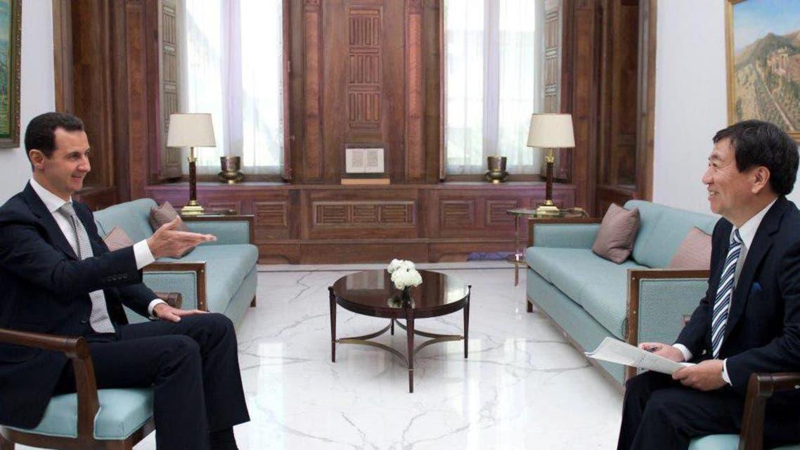 من حوار الأسد مع قناة TBS اليابانية
