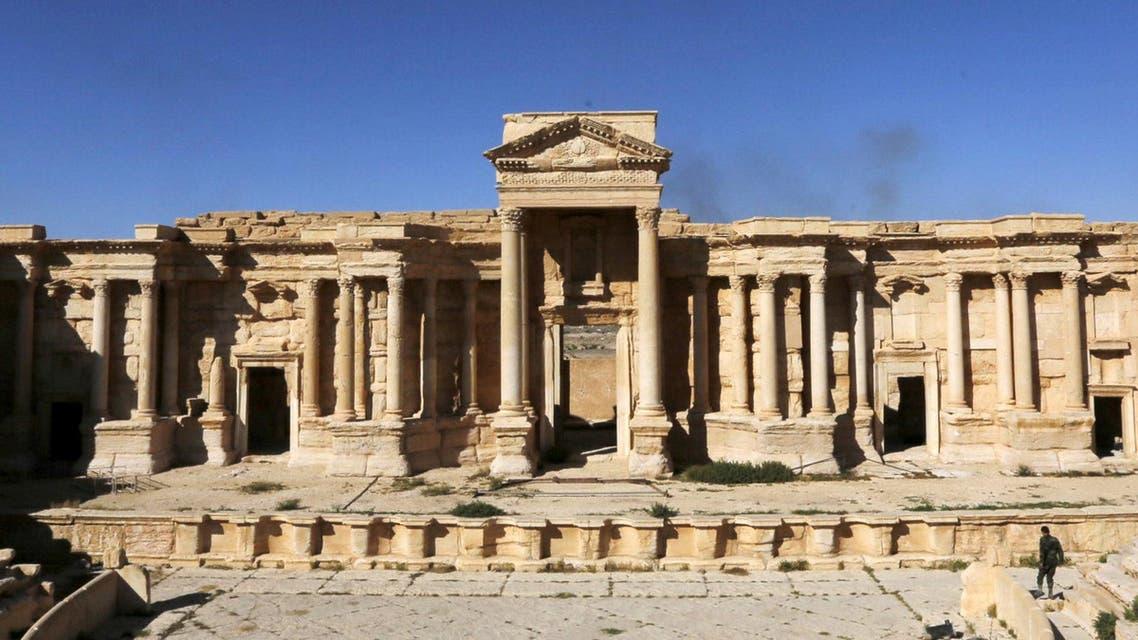 المسرح الروماني في تدمر قبل تدميره
