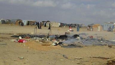 انفجار في مخيم للنازحين السوريين قرب حدود الأردن