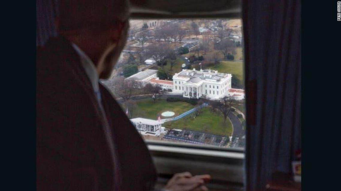 شاهد نظرة أوباما الأخيرة للبيت الأبيض