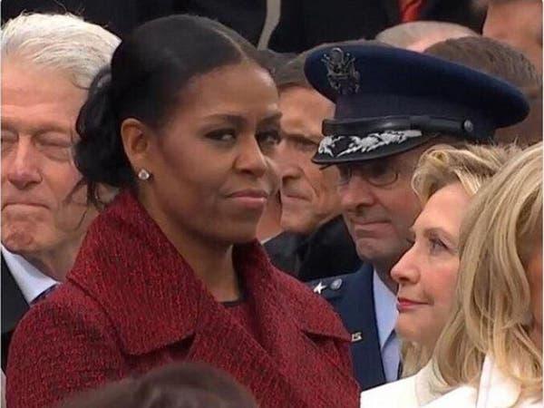 هكذا نظرت ميشال أوباما إلى عائلة ترمب..