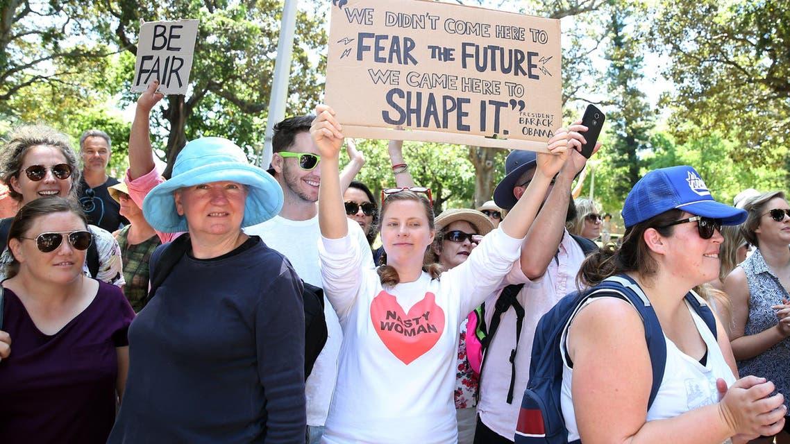 احتجاجات ضد ترمب