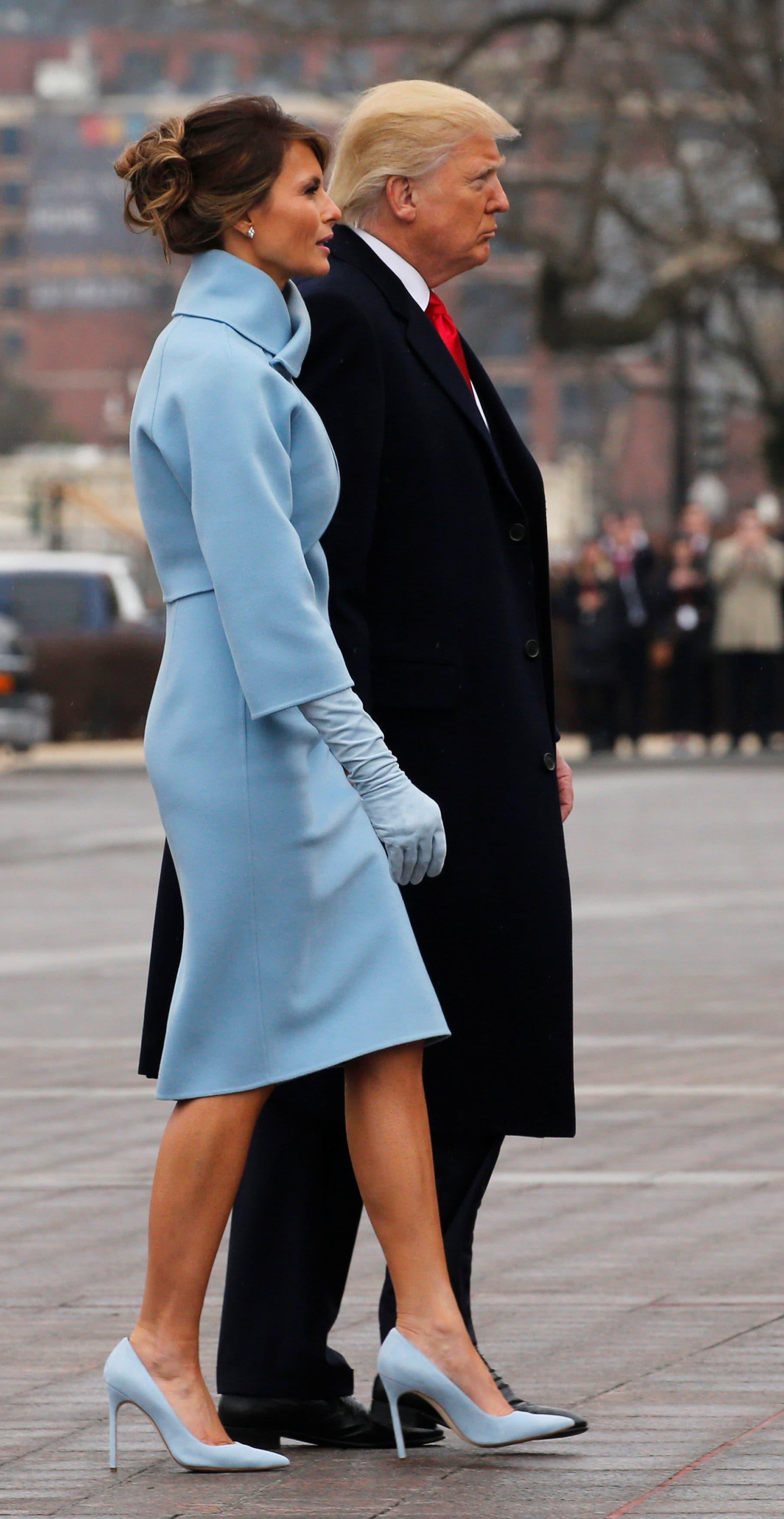 الرئيس ترمب وزوجته ميلانيا