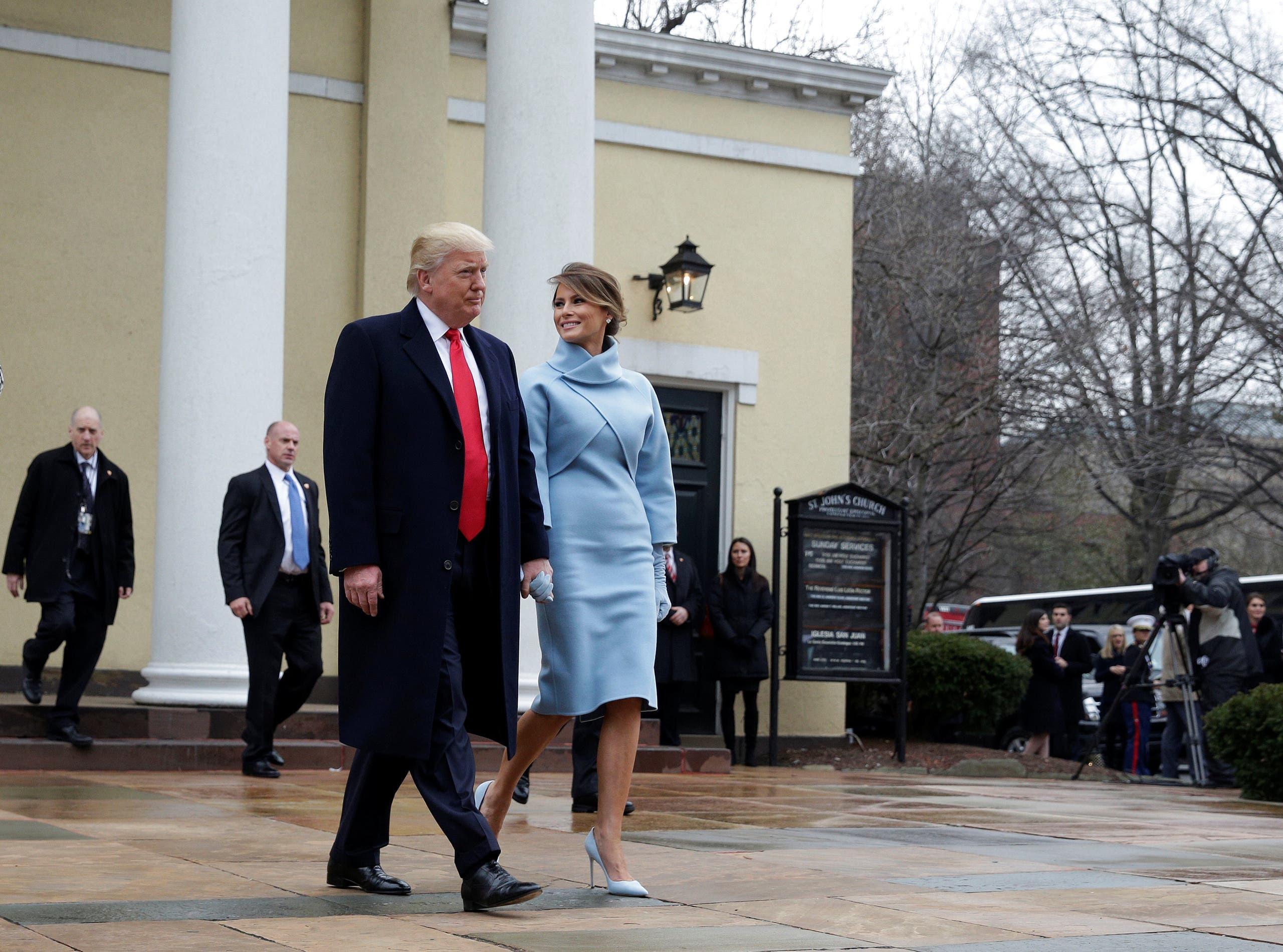 الرئيس الأميركي والسيدة الأولى