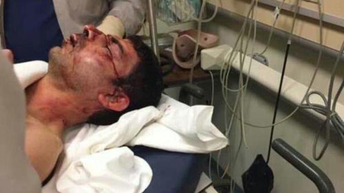 انتحاري الحمرا يخضع للعلاج في أحد المستشفيات بعد القاء القبض عليه