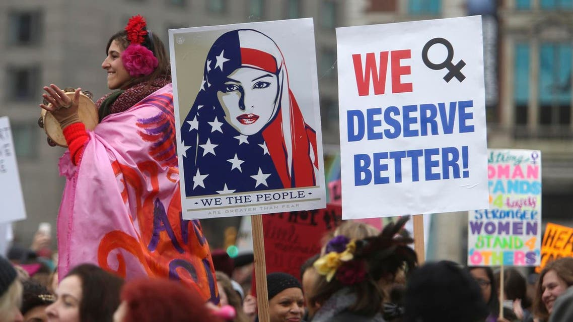 Hundreds of thousands of people gather as they prepare to march in protest of President Donald Trump Saturday Jan. 21, 2017 across the states. (AP)