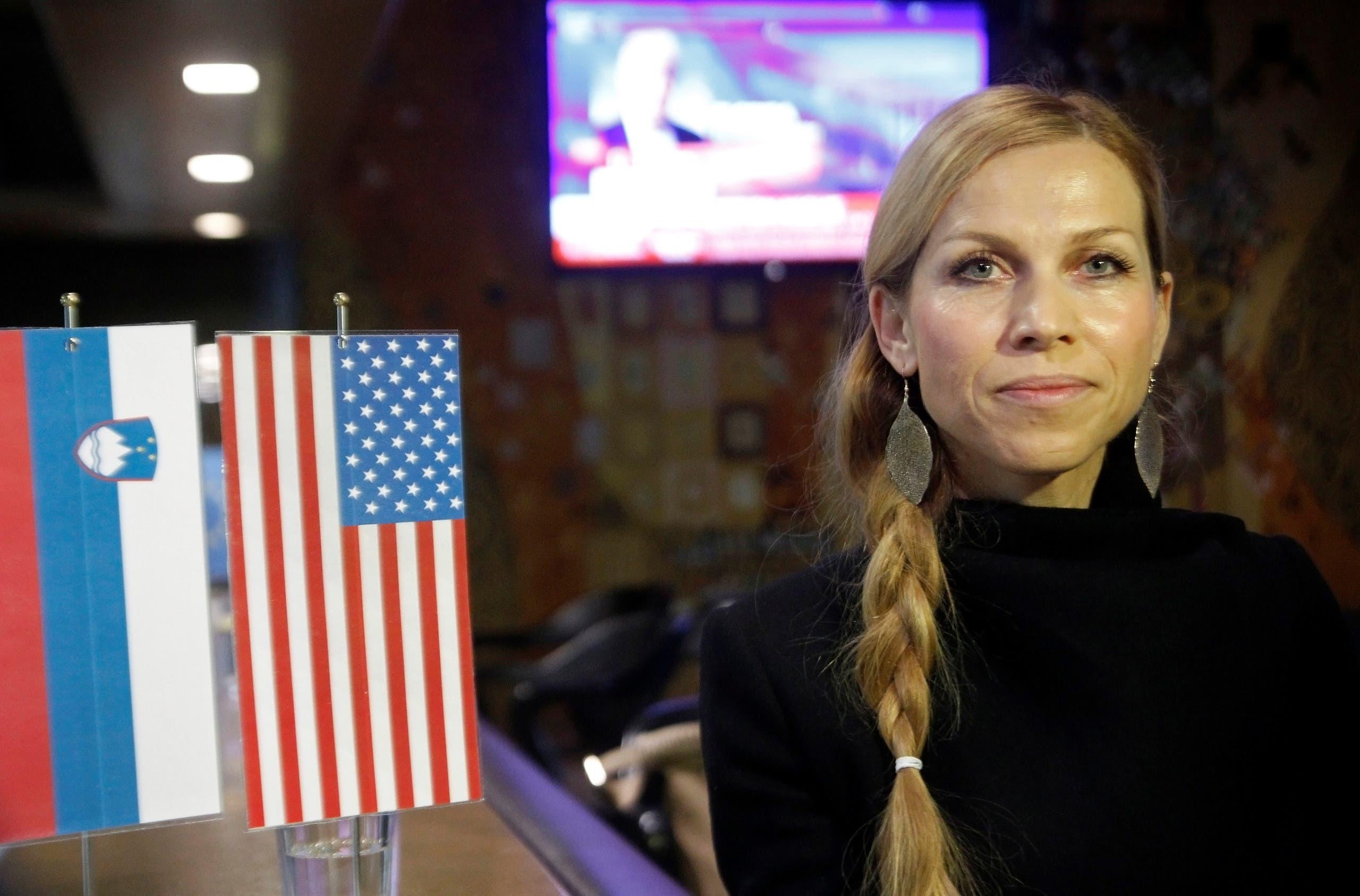 Mirjana Jelancic, a classmate of Melania Trump, poses for a picture during U.S. presidential election result in Melania Trump's hometown of Sevnica, Slovenia November 9, 2016. REUTERS/Srdjan Zivulovic