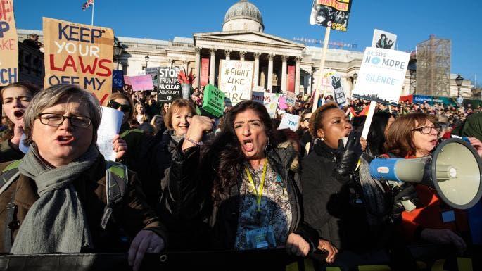 غاضبات في مسيرة واشنطن