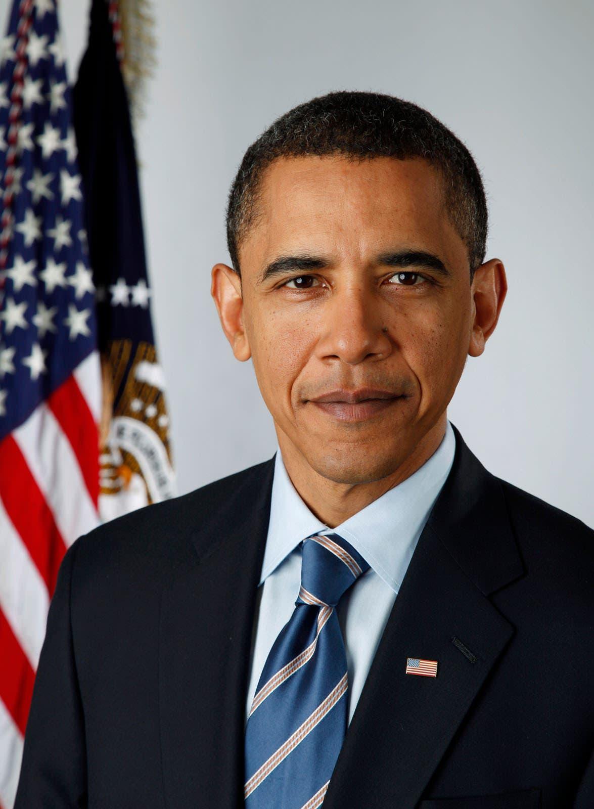 صورة أوباما الرسمية في فترة الرئاسة الأولى