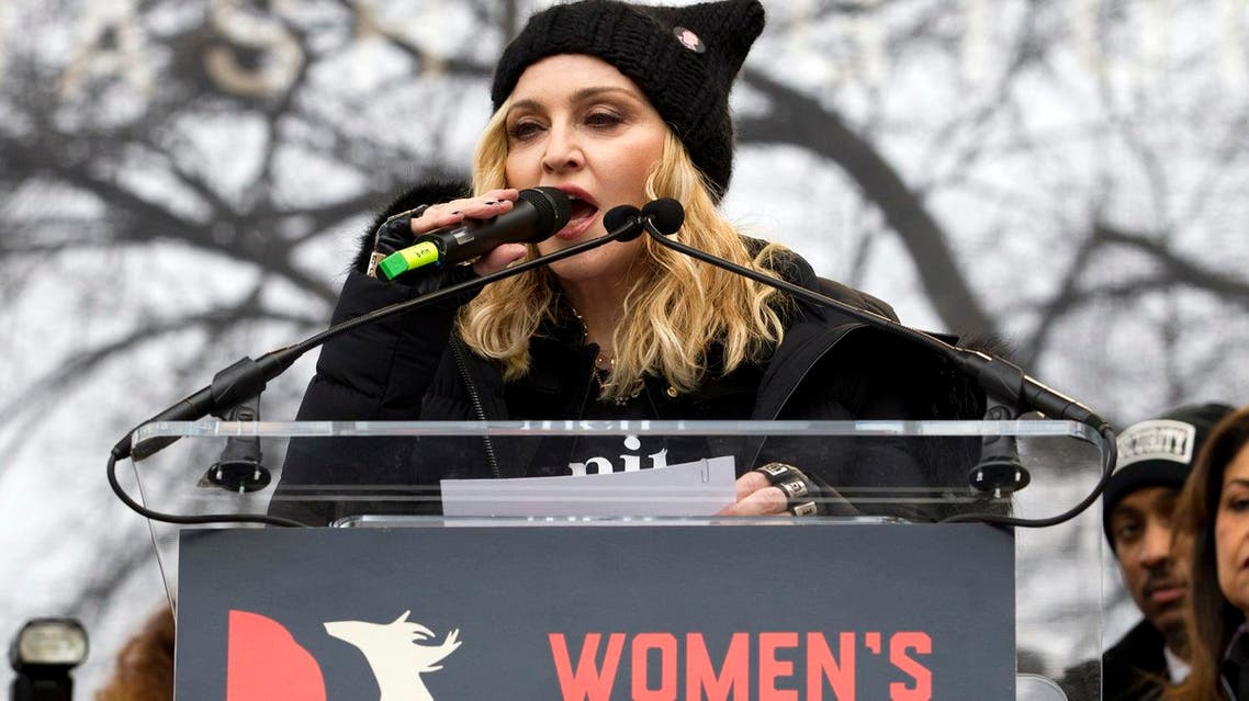 Madonna deliverts her controversial speech during the Women's March on Washington, Saturday, Jan. 21, 2017, in Washington (Photo: AP/Jose Luis Magana)