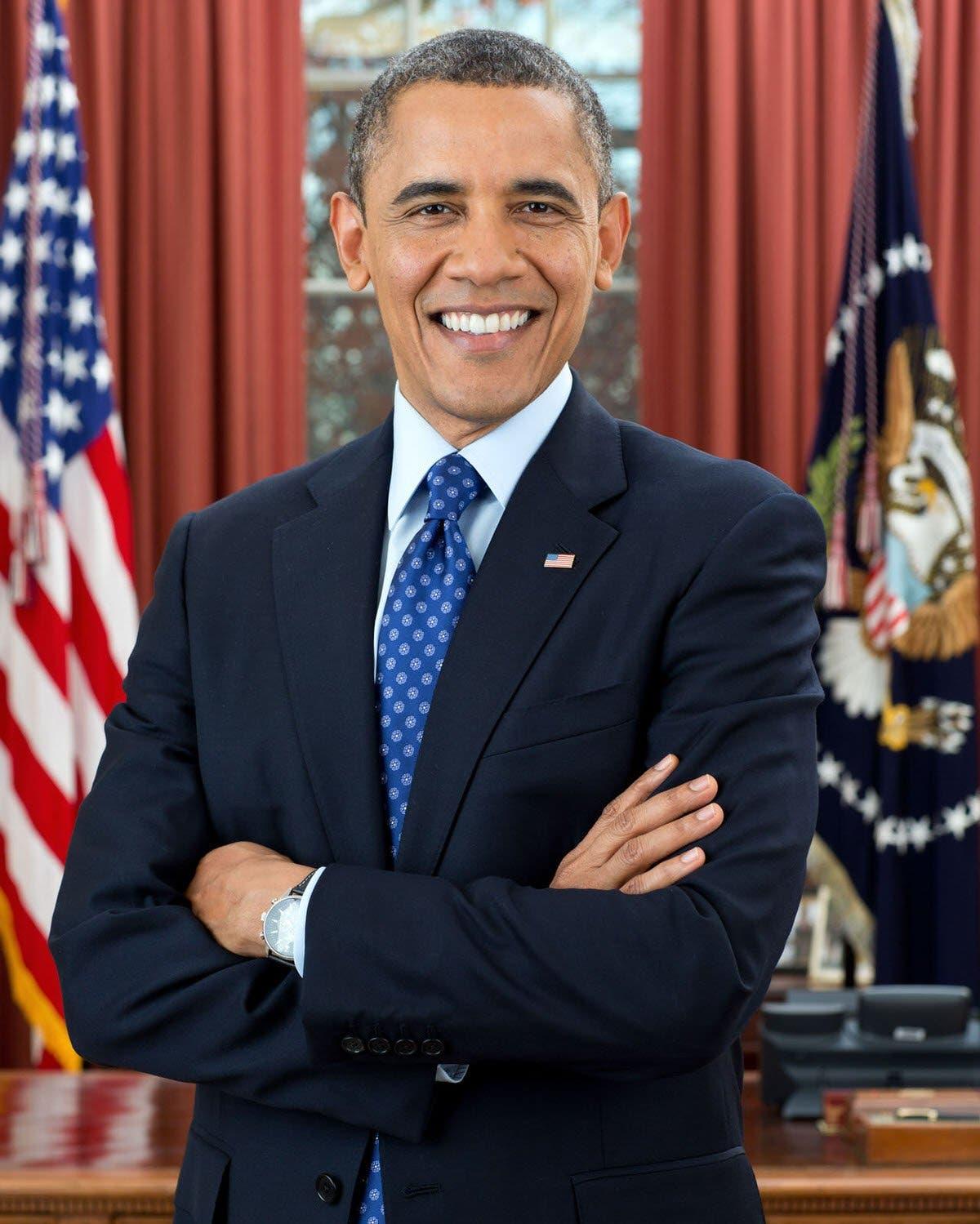 صورة أوباما الرسمية خلال فترة الرئاسة الثانية