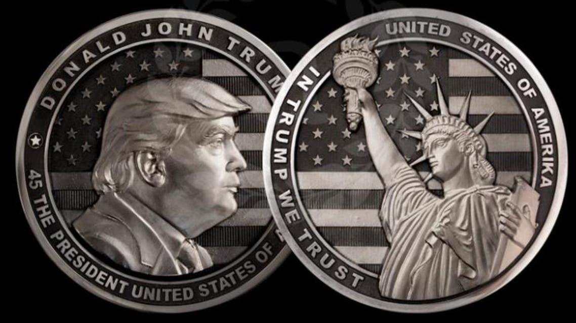 On the reverse side, it has the Statue of Liberty and reads 'In Trump We Trust' and 'The United States of Amerika'. (Photo courtesy: Art Grani)