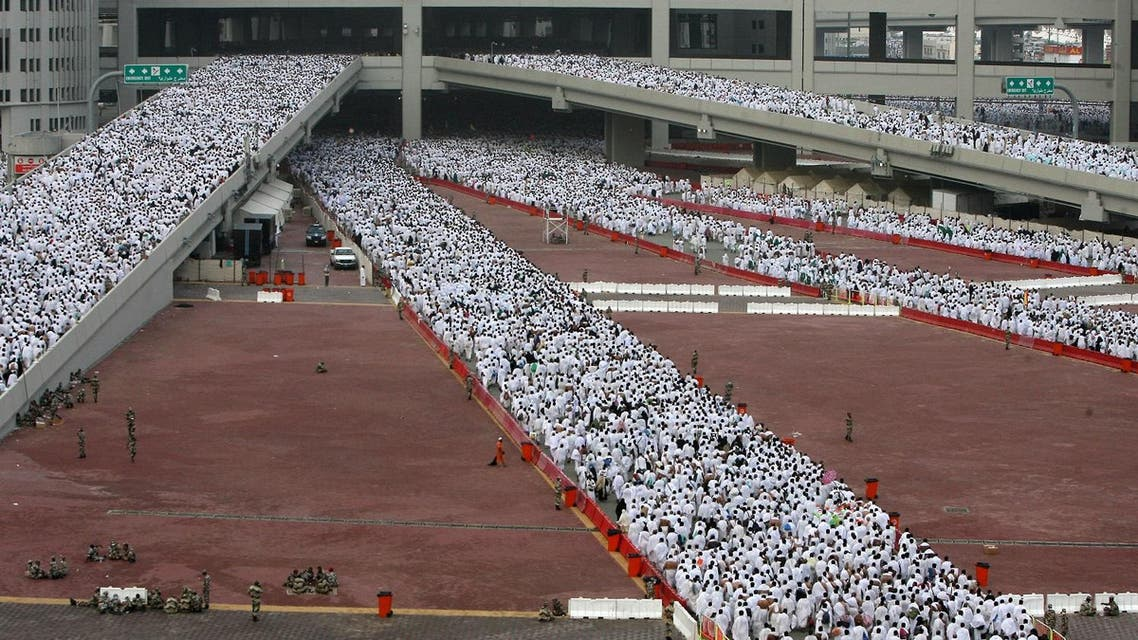 "Muslim pilgrims head to perform the ""Jamarat"" ritual, the stoning of Satan, in Mina near the holy city of Mecca. (AFP)"
