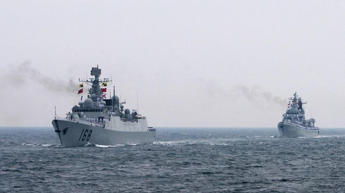 Chinese warships AFP