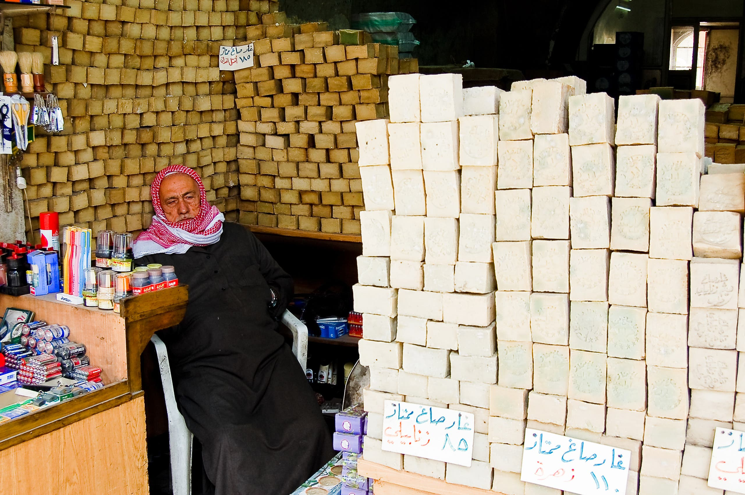 12 febray 2007-damascus-sirya-shop selling soap in the city of Aleppo, Syria