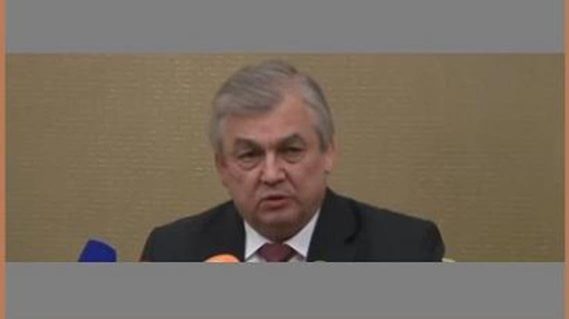رئيس الوفد الروسي إلى مؤتمر أستانا الكسندر لافرينتييف