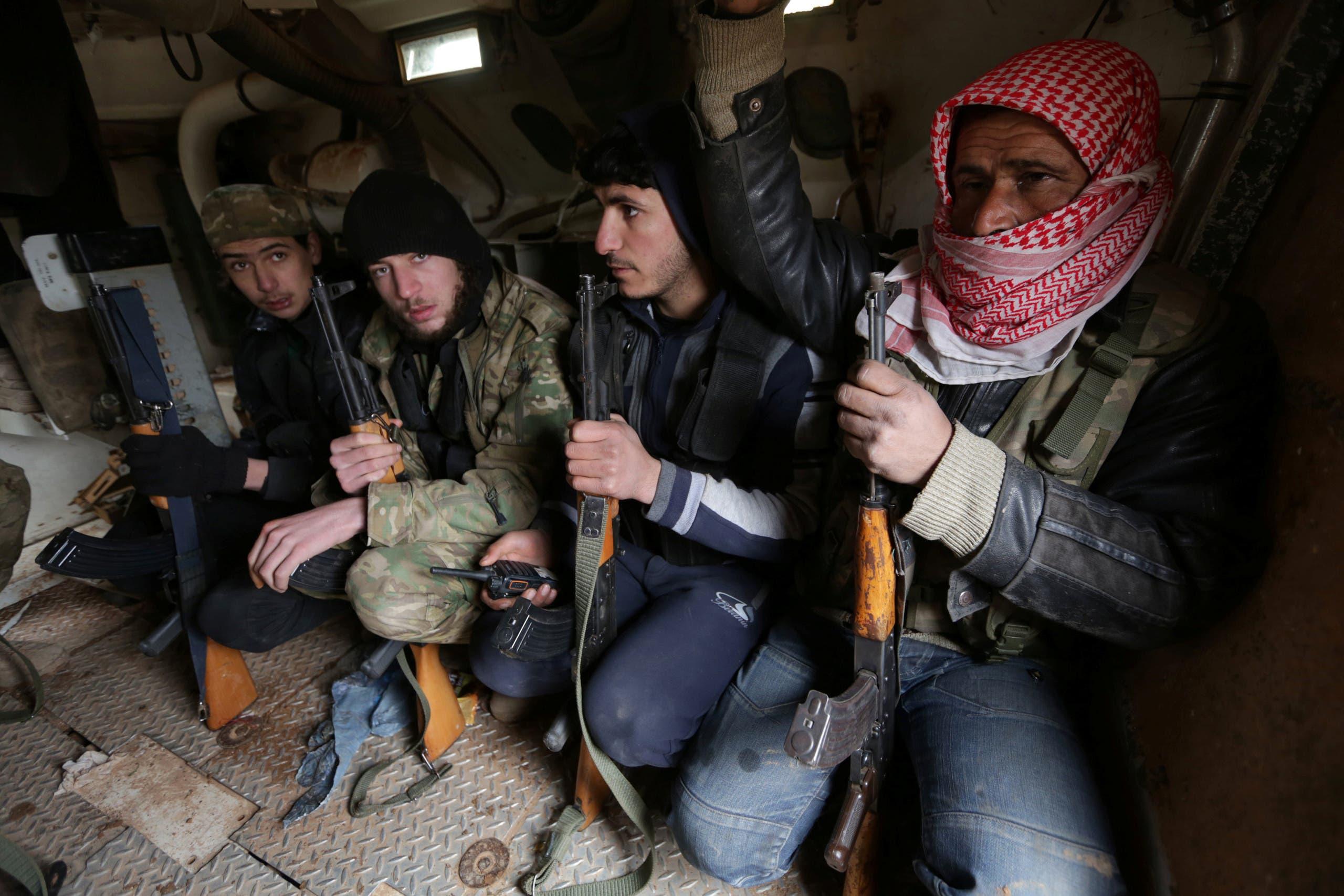 قوات من المعارضة السورية تتجه نحو مدينة الباب (أرشيفية)