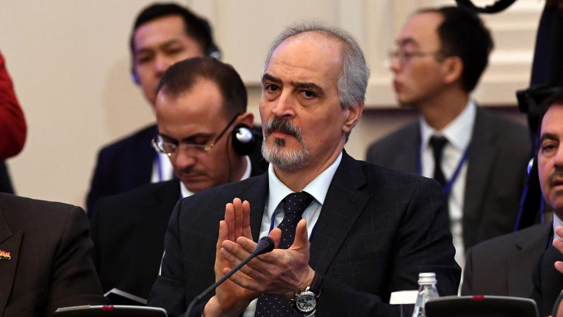 Syria's UN ambassador and head of the government delegation Bashar al-Jaafari attends the first session of Syria peace talks at Astana's Rixos President Hotel on January 23, 2017. (AFP)