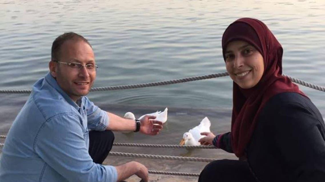 نزار التميمي وزوجته