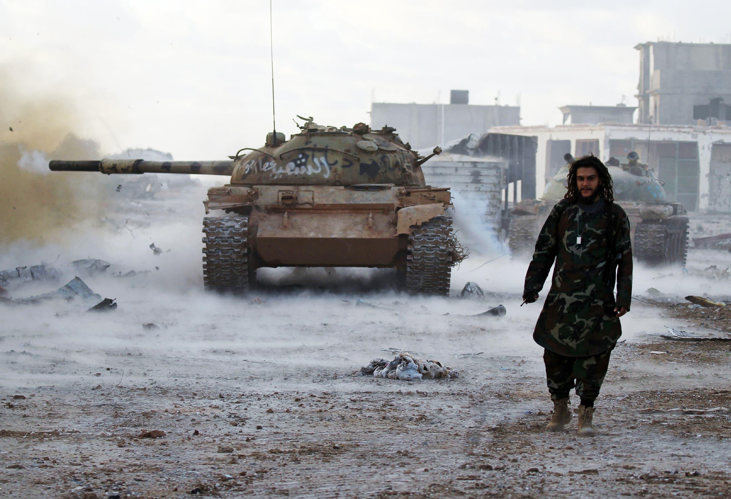 الجيش الوطني الليبي في حي قنفودة