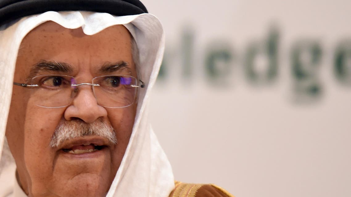 """""""Saudi Oil Minister Ali al-Naimi speaks during a press conference following a meeting with Sudanese Oil Minister in Khartoum on May 4, 2016"""" """"Saudi Minister of Oil and Mineral Resources Ali al-Naimi inaugurates the first Saudi Mining and Minerals exhibition and conference held at a hotel in Riyadh on October 27, 2015"""""""