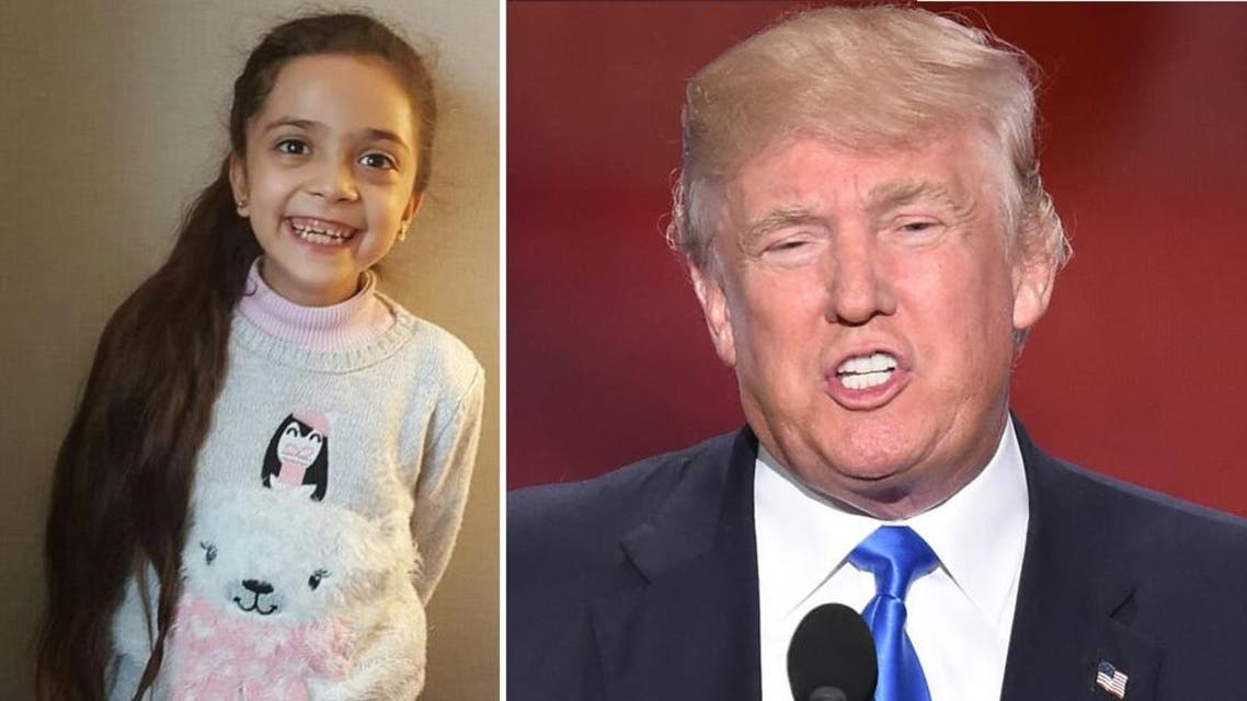 She told Trump her school in Aleppo was destroyed by the bombing and some of her friends had died. (Twitter/ AFP)