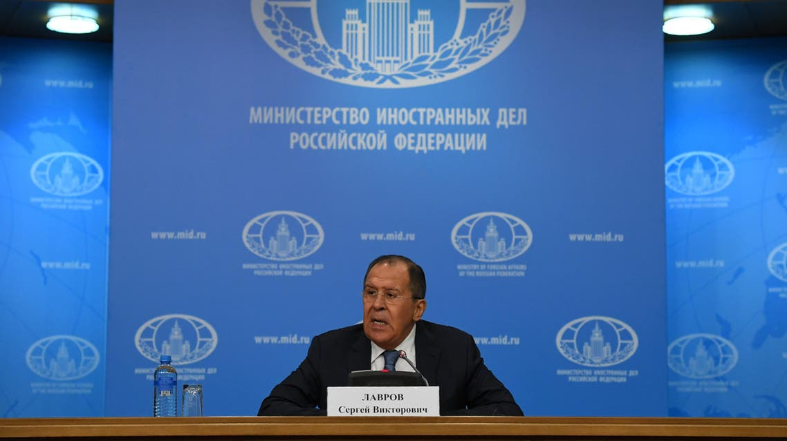 Russian Foreign Minister Sergei Lavrov speaks during his annual press conference in Moscow on January 17, 2017. (AFP)