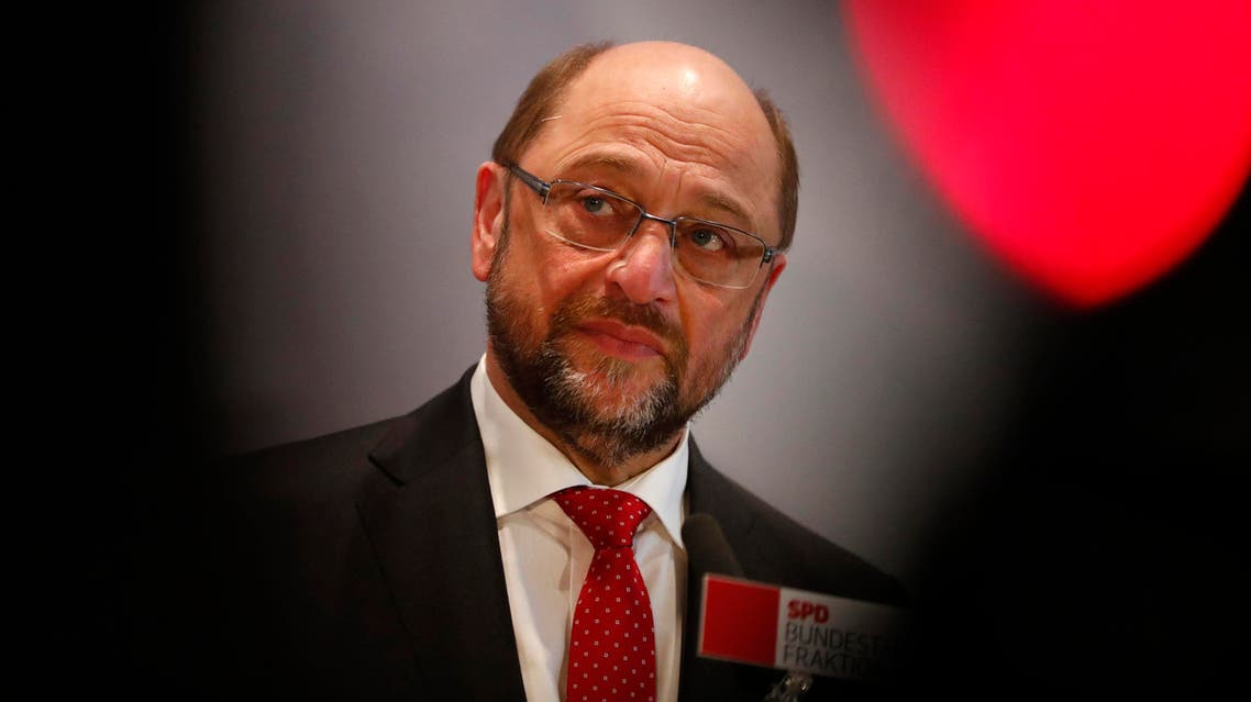 Former European Parliament president Martin Schulz addresses the media after a Social Democratic Party SPD parliamentary fraction meeting in Berlin, Germany, January 25, 2017. Reuters