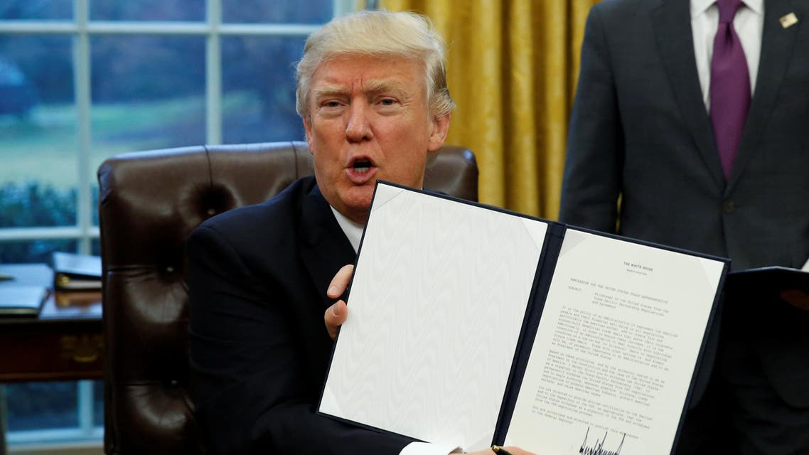 """Trump, who tweeted on Tuesday night that a """"big day"""" was planned on national security on Wednesday, is expected to order a multi-month ban. (File photo: Reuters)"""