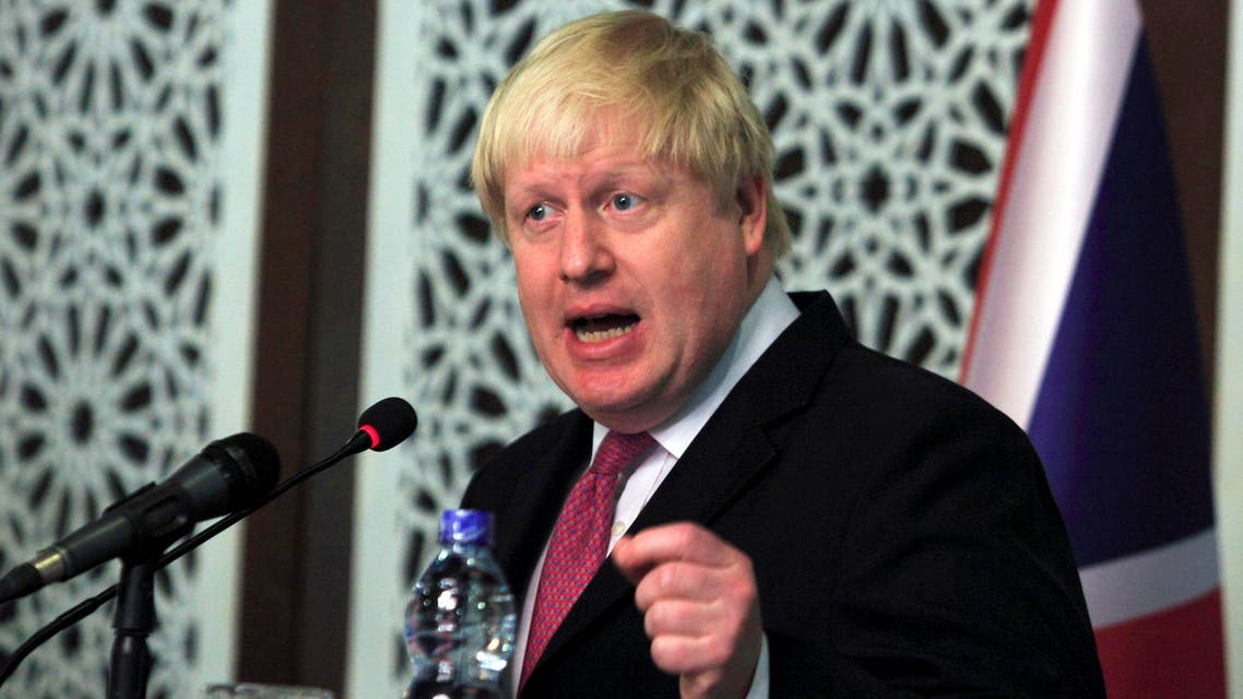 British Foreign Secretary Boris Johnson speaks during a joint news conference with the Adviser to Pakistan's Prime Minister on National Security and Foreign Affairs, Sartaj Aziz (not seen) at the Foreign Ministry in Islamabad, Pakistan, November 24, 2016. reuters
