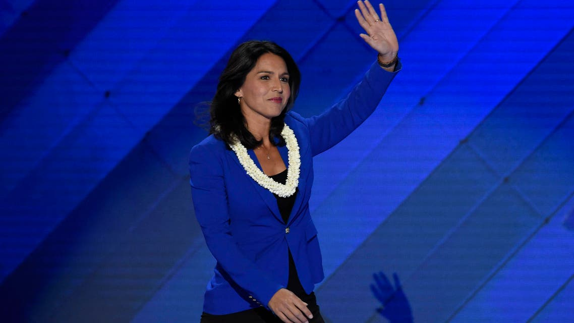US Representative Tulsi Gabbard speaks during Day 2 of the Democratic National Convention at the Wells Fargo Center in Philadelphia, Pennsylvania, July 26, 2016. (AFP)