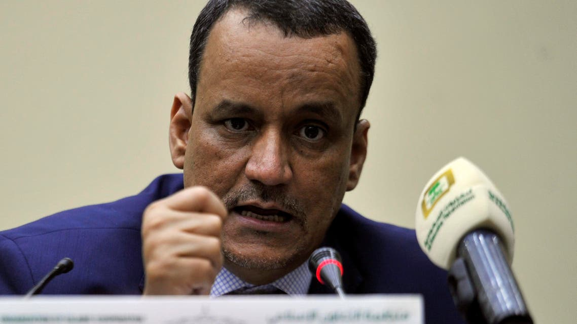 United Nations Special Envoy for Yemen Ismail Ould Cheikh Ahmed speaks during a press conference with the secretary general of the Organization of Islamic Cooperation (OIC) in Jeddah on August 8, 2016. AFP