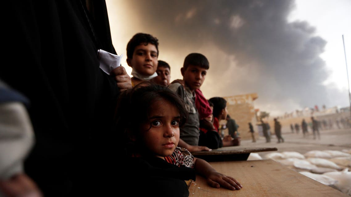 FLEEING IRAQ: The offensive in Mosul drove an exodus of civilians from the latest frontlines in the war against Islamic State. REUTERS/Zohra Bensemra
