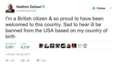 نائب بريطاني ممنوع من دخول أميركا بسبب قرارات ترمب