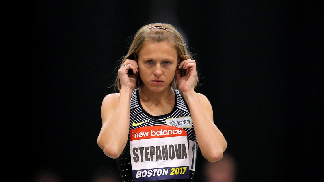 Russian whistleblower and runner Yulia Stepanova, who helped expose massive doping problems in Russia that led to the country's track and field team being banned from international competition, takes the track to compete as a neutral athlete in the 800 meter race at the Boston Indoor Grand Prix in Boston, Massachusetts, U.S. January 28, 2017. REUTERS/Brian Snyder