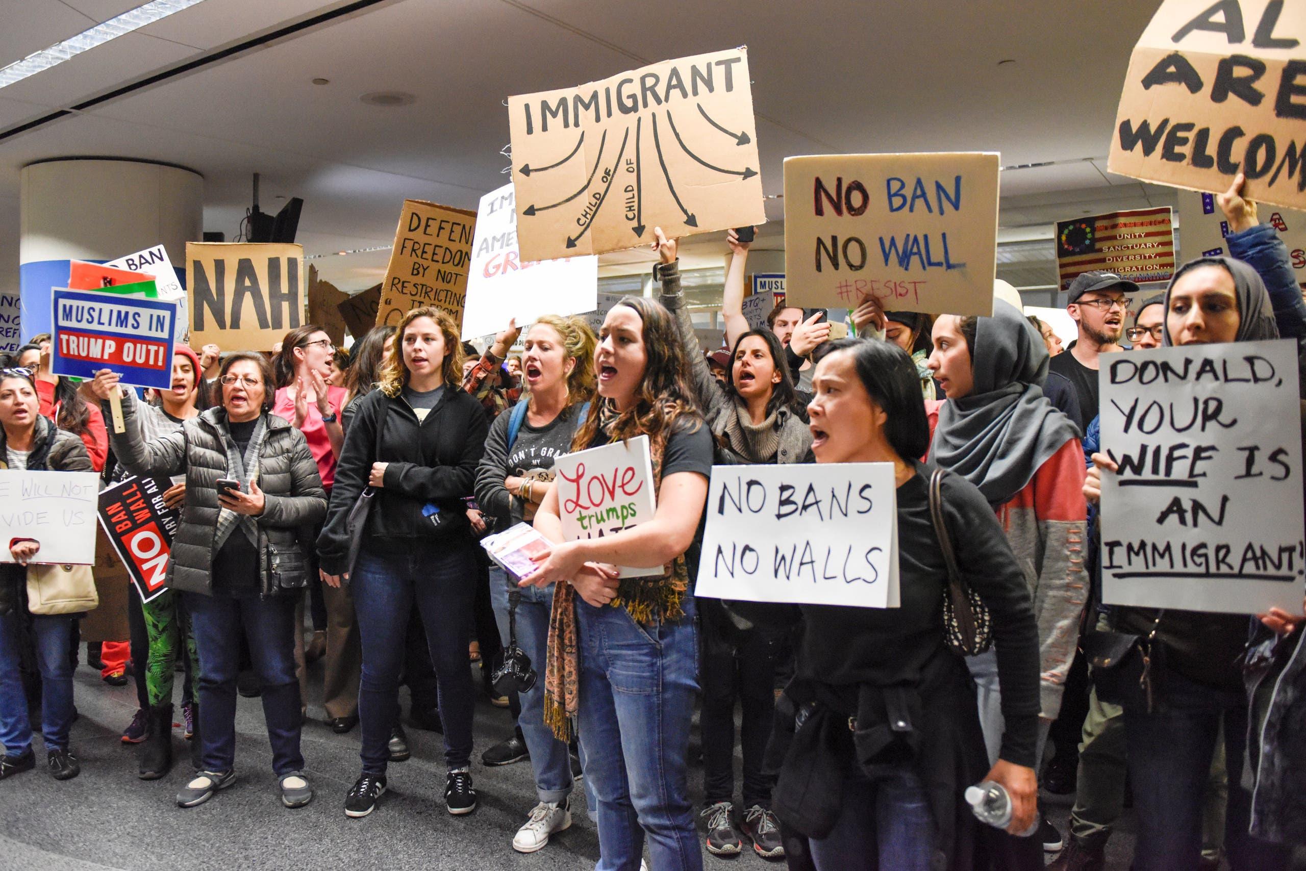 من احتجاجات سان فرانسيسكو
