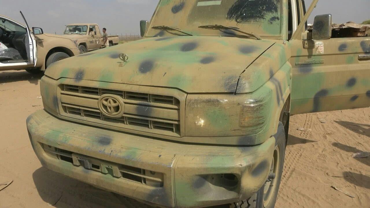 اغتنام مركبة خضراء تابعة لحرس المخلوع صالح