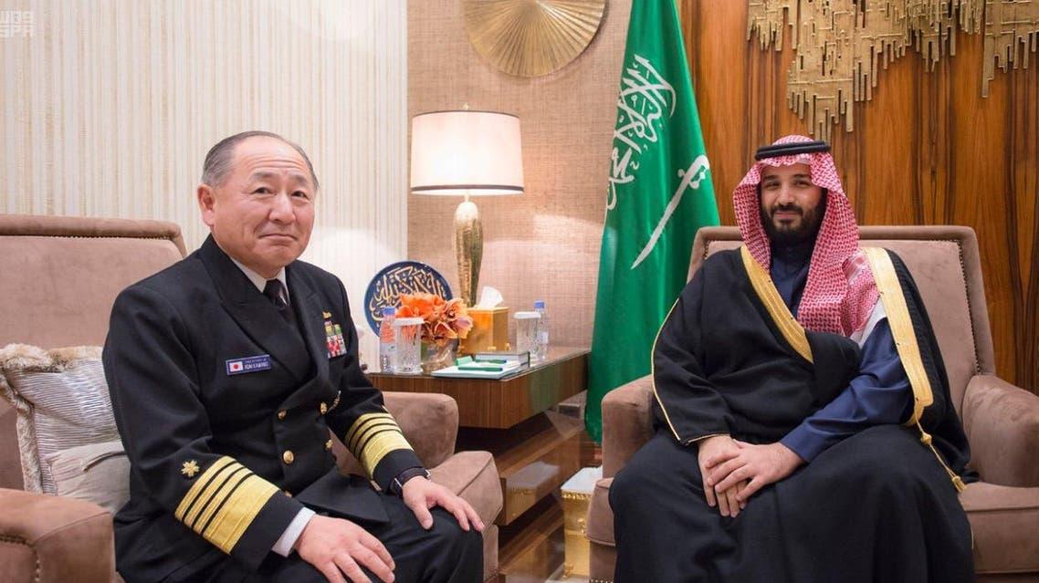 ولي ولي العهد السعودي محمد بن سلمان ورئيس هيئة الأركان الياباني
