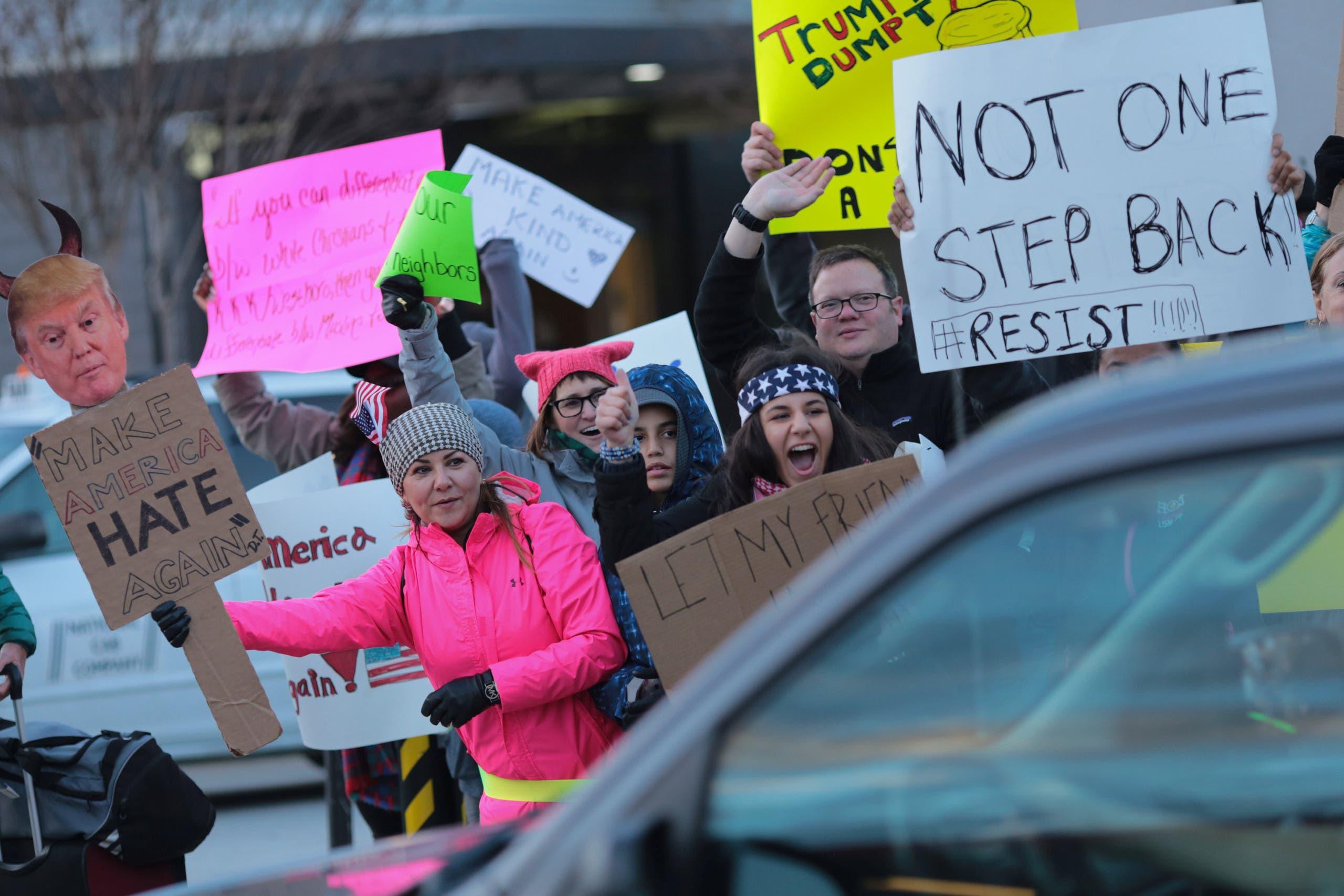 من احتجاجات أتلانتا