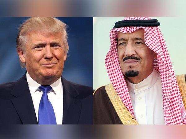 ترمب يطلع الملك سلمان على تفاصيل قصف النظام السوري