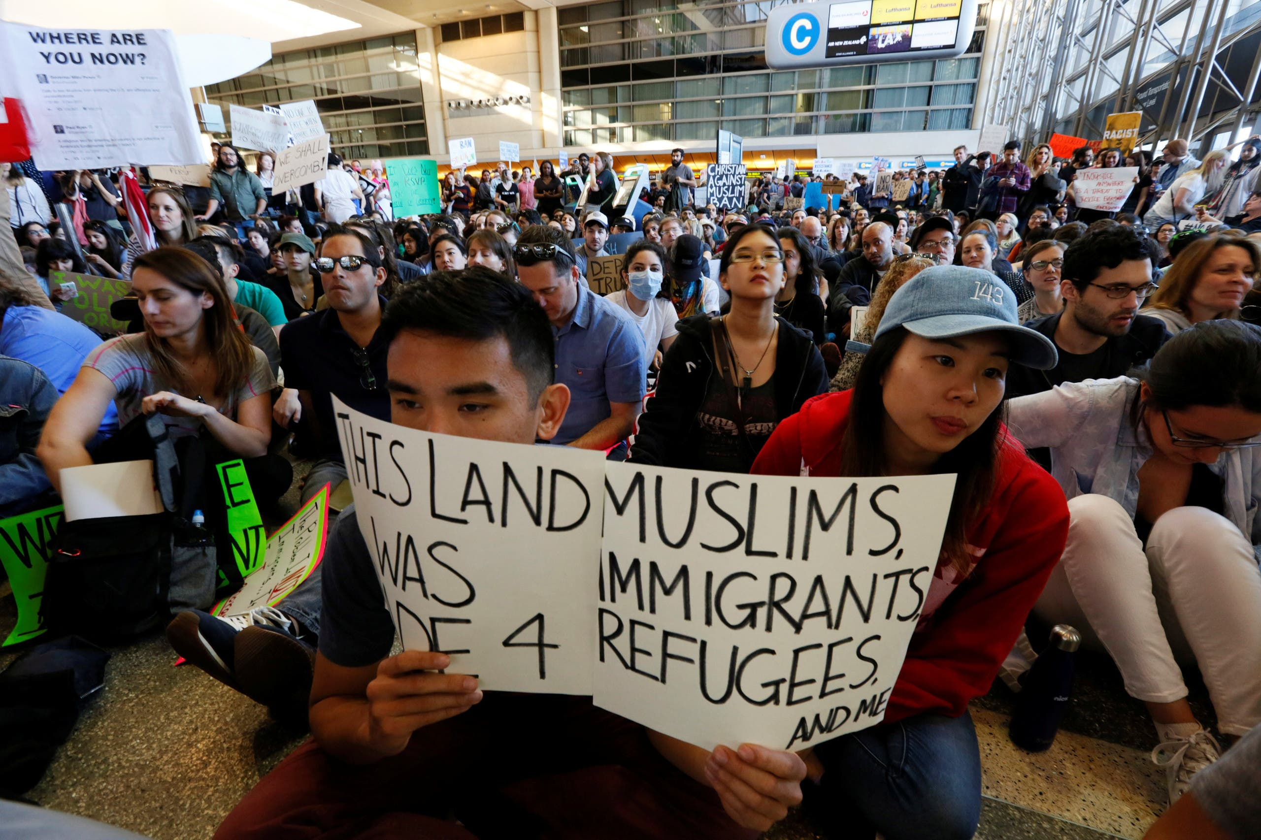 من احتجاجات كاليفورنيا