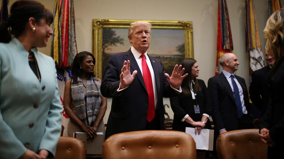 US President Donald Trump holds breakfast meeting with small business leaders at the Roosevelt room of the White House. (Reuters)