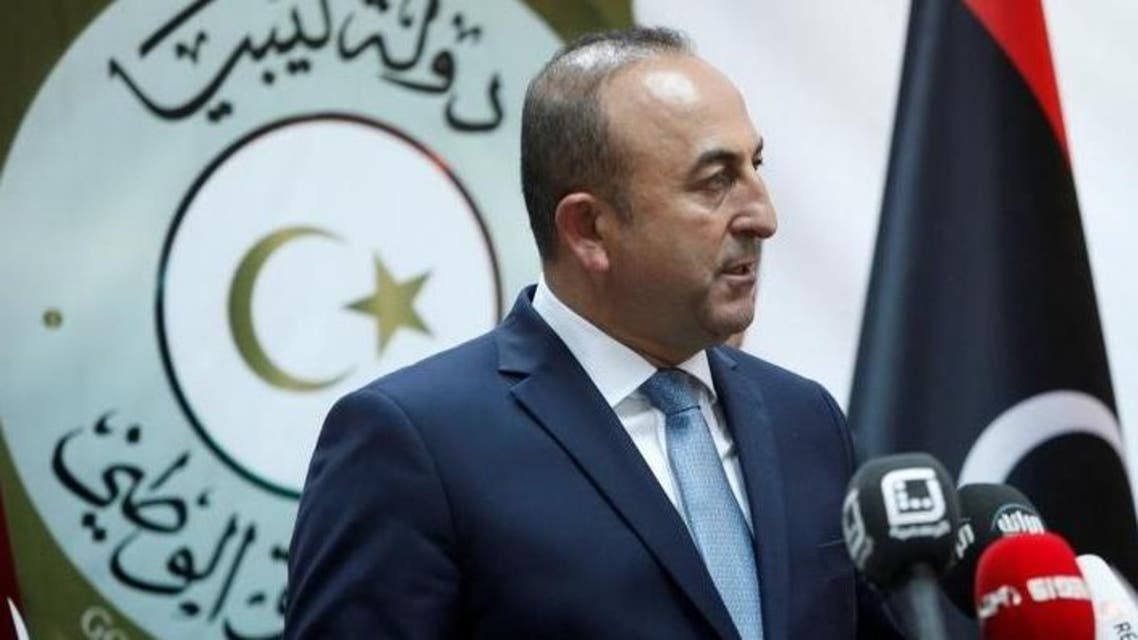 وزير الخارجية التركي مولود تشاووش أوغلو في طرابلس