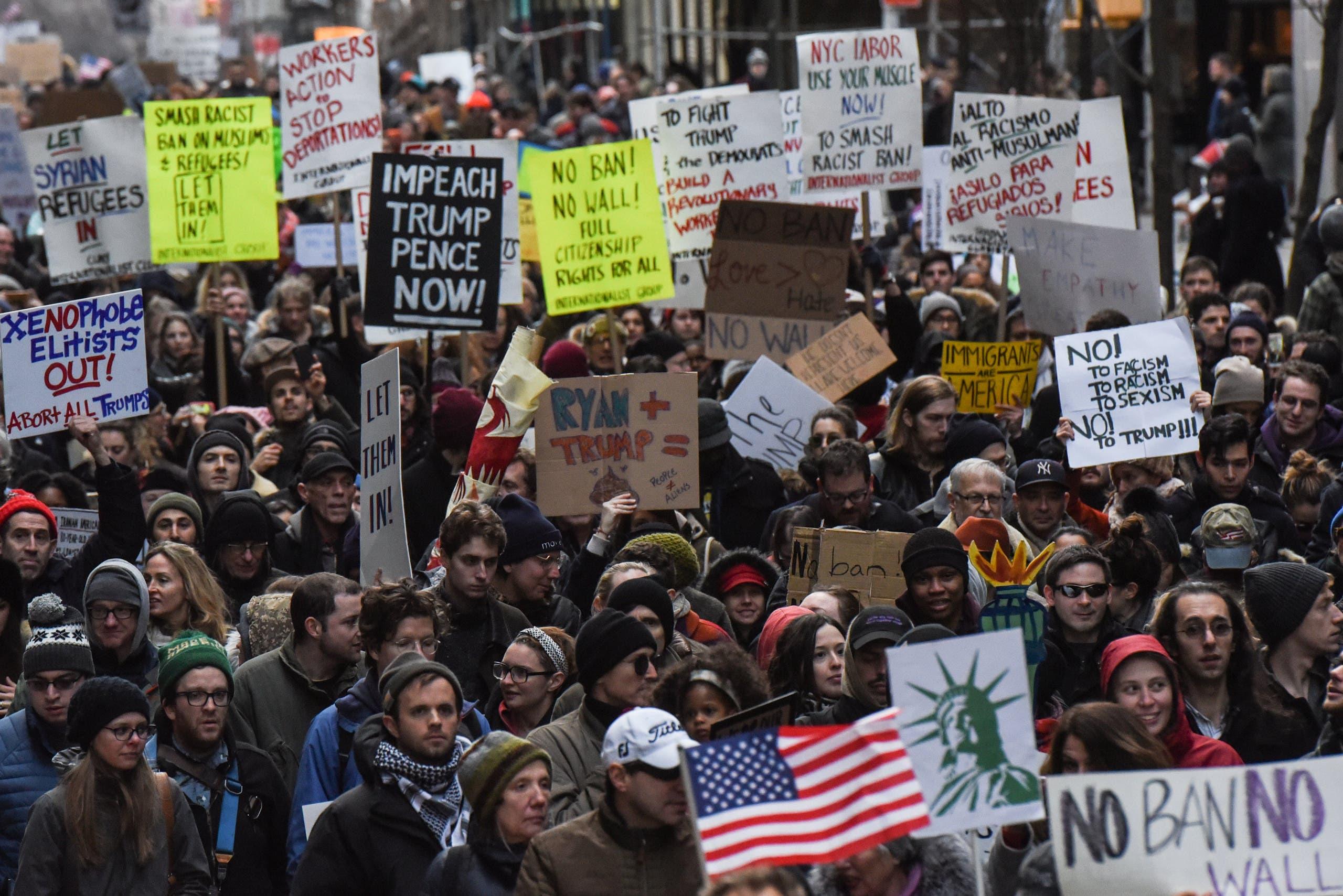 من احتجاجات نيويورك
