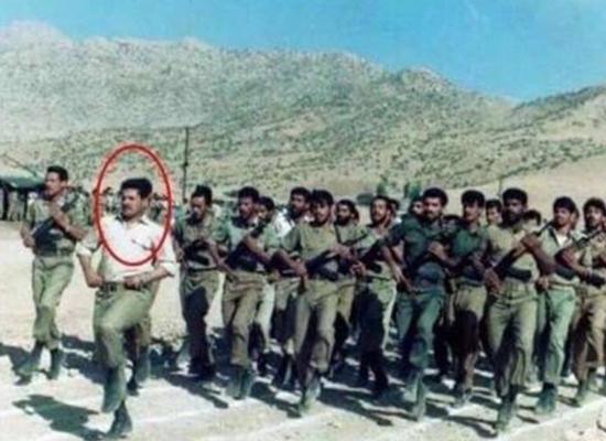 قاسم الأعرجي في تدريب مجموعة التوابيين من الجيش العراقي في إيران